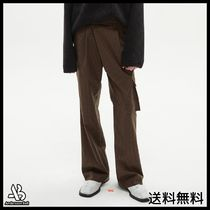 [ANDERSSONBELL] CARGO POCKET WIDE LEGGED CHECK TROUSERS BR