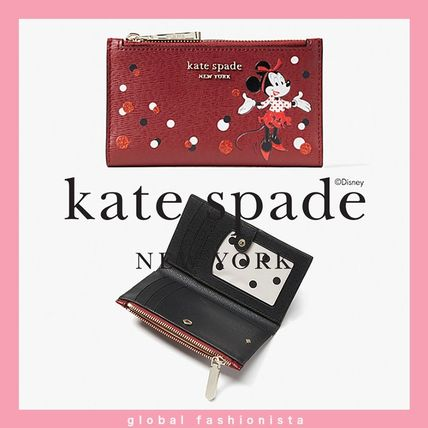 disney x kate spade minnie mouse small slim bifold wallet