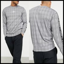 ASOS SikSilk dog tooth sweat with tape arm detail