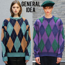 ★SEVENTEEN 着用★GENERAL IDEA★RETRO ARGYLE OVERFIT KNIT