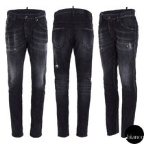 関税込DSQUARED2 2021SS Black 2 Wash Skater Jeans デニム ロゴ