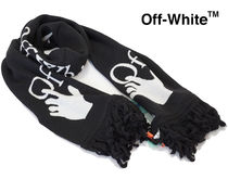 Off-White INTARSIA-KNIT HANDS LOGO SCARFロゴスカーフマフラー