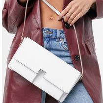 ASOS DESIGN multi pocket shoulder bag in white