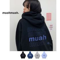 【muahmuah】Four Step Logo Over-fit Hoodie 全4色