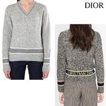 《RUNWAY ITEM》DIOR V-NECK SWEATER WOOL AND CASHMERE