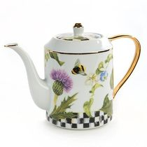MacKenzie-Childs Thistle & Bee Porcelainティーポット