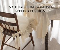 【DECO VIEW】Natural Beige Washing Table Cushion Cover