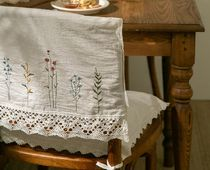 【DECO VIEW】French embroidery lace back of a chair cover