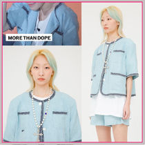 more than dope(モアザンドープ) ジャケット 人気☆SEVENTEEN ウジ着用☆Trimming Jacket/2色/More Than Dope