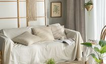 【DECO VIEW】Beige washed linen Cushion Cover