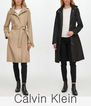 Calvin Klein★Petite Hooded Belted Trench Coatトレンチコート