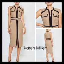 【Karen Millen】日本未入荷! Utility Snaffle Trim Dress 膝丈