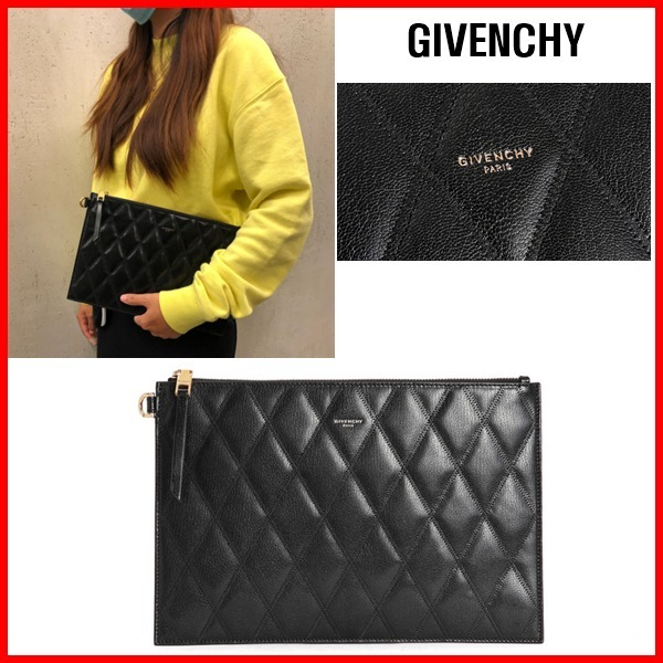 ★GIVENCHY★QUILTING CLUTCH☆正規品・安全発送☆ (GIVENCHY/クラッチバッグ) BB6095B08Z 001