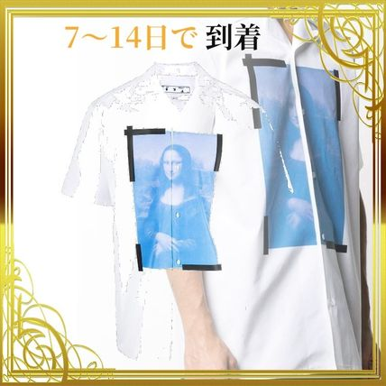 関税送料込みMona Lisa graphic print shirt