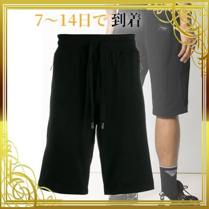 関税送料込みCotton jogging shorts with logo