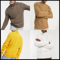 ASOS DESIGN heavyweight cable knit roll neck jumper