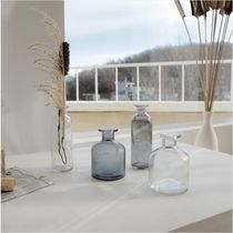 【carda】Transparent Modern Glass Vase Diffuser Container