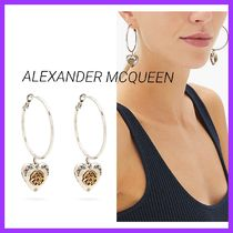 ALEXANDER MCQUEEN☆ハートロケット フープピアス アンティーク