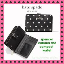 NEW KATE SPADE*spencer cabana dot compact wallet 二つ折財布