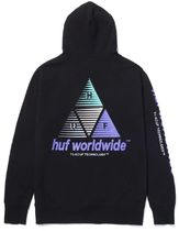 HUF Prism Triple Triangle Pullover Hoodie Black M パーカー