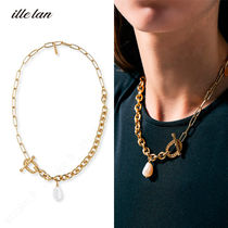ille lan★GRACE NECKLACE/バロックパール ネックレス[追跡付]