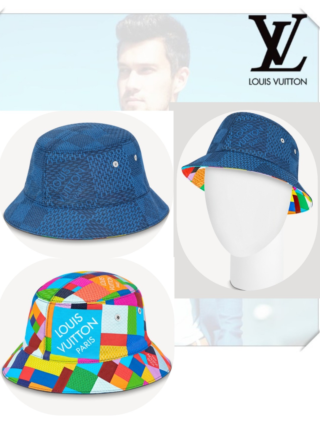 【Louis Vuitton】 ボネ・ダミエ 3D ハット (Louis Vuitton/ハット) M76582
