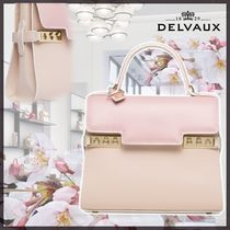 DELVAUX(デルボー) ハンドバッグ New◆delvaux◆新作ローズ*Tempete Small Camaieuローズシリーズ