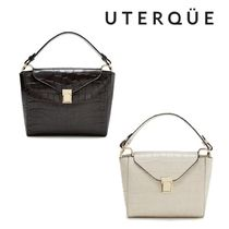 【Uterque】LEATHER BAG WITH SMALL FLAP