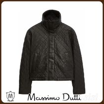 MassimoDutti♪BLACK NAPPA LEATHER QUILTED JACKET