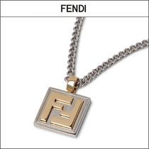 【FENDI】FFペンダント カーブチェーンネックレス '関税込み'