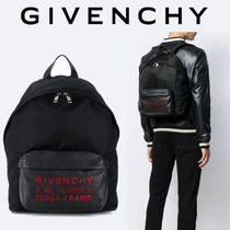 GIVENCHY ADDRESSロゴ ナイロン&レザー バックパック