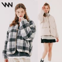 WV PROJECT★Checky reversible no-collar Jacket CJOT7430 4色