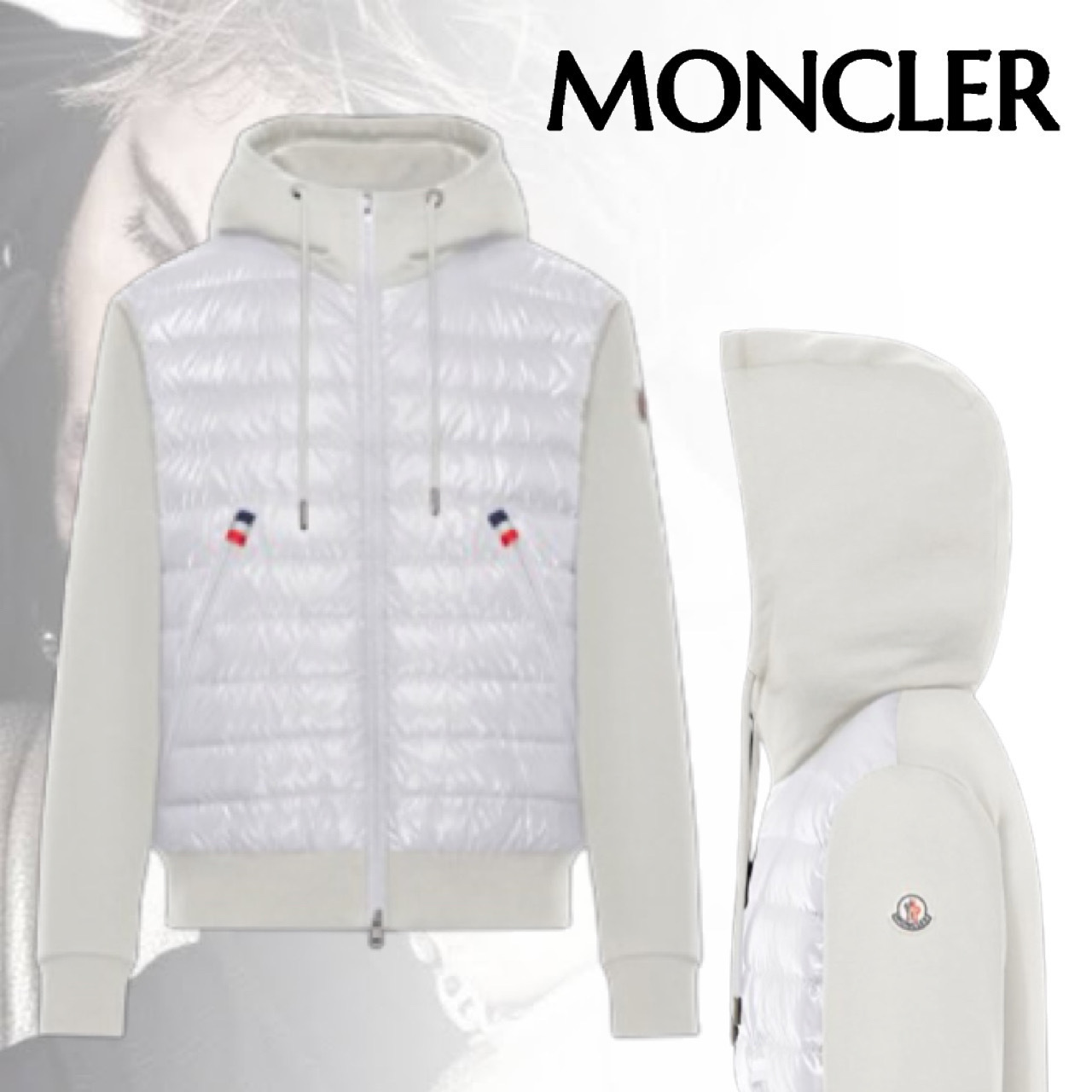 MONCLER モンクレール SWEATER WITHHOOD カーディガン ロゴ (MONCLER/カーディガン) 63528495