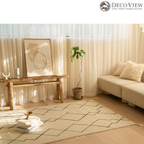 DECO VIEW(デコヴュー)★Rough Drawing Sisal Look Rug-145x100