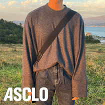 ASCLO Overfit Knit Cuffs Long Sleeve T Shirt (4color)