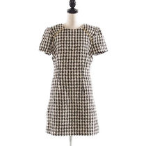 Milly::HOUNDSTOOTH TWEED RUCH DRESS:2[RESALE]