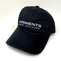 VETEMENTS HAUTE COUTURE ロゴ キャップ