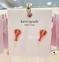 【kate spade】love lobster studs☆ピアス