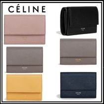 【CELINE(セリーヌ)】カーフスキン コンパクトウォレット