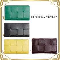 Bottega Veneta Maxi Intrecciato Zip Around Wallet Racing