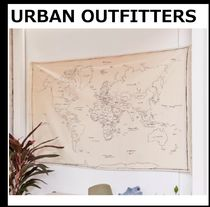 【URBAN OUTFITTERS】Hand-Drawn Map コットン タペストリー