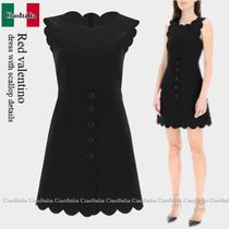Red valentino dress with scallop details