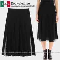 RED VALENTINO(レッドヴァレンティノ) スカート Red valentino midi skirt in grosgrain and tulle