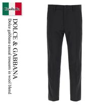 Dolce gabbana casual trousers in wool blend