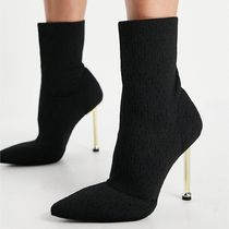 ASOS Simmi London Shae sock boots with gold heel