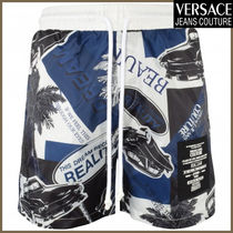 【VERSACE JEANS COUTURE】Navy/White Dream Swimshorts 海パン