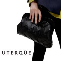 【Uterque】LEATHER BAG WITH CLASP CLOSURE