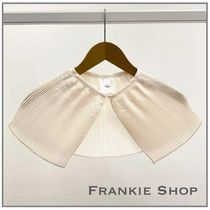 THE FRANKIE SHOP SATIN PLEATED COLLAR カラー パール
