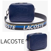 【LACOSTE】Croco Crew Grained Leather ショルダーバッグ