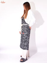 Cookman(クックマン) エプロン COOKMAN クックマン Long Apron Paisely Black ロングエプロン